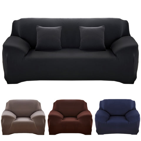 Solid color sofa cover stretch seat