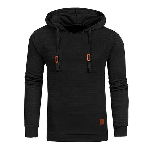 Hoodies Men Long Sleeve Solid Color Hooded Casual Sportswear US Size