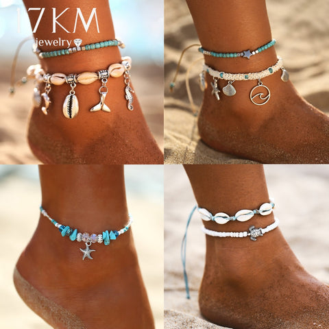 Starfish Pendant Anklets For Women On Leg