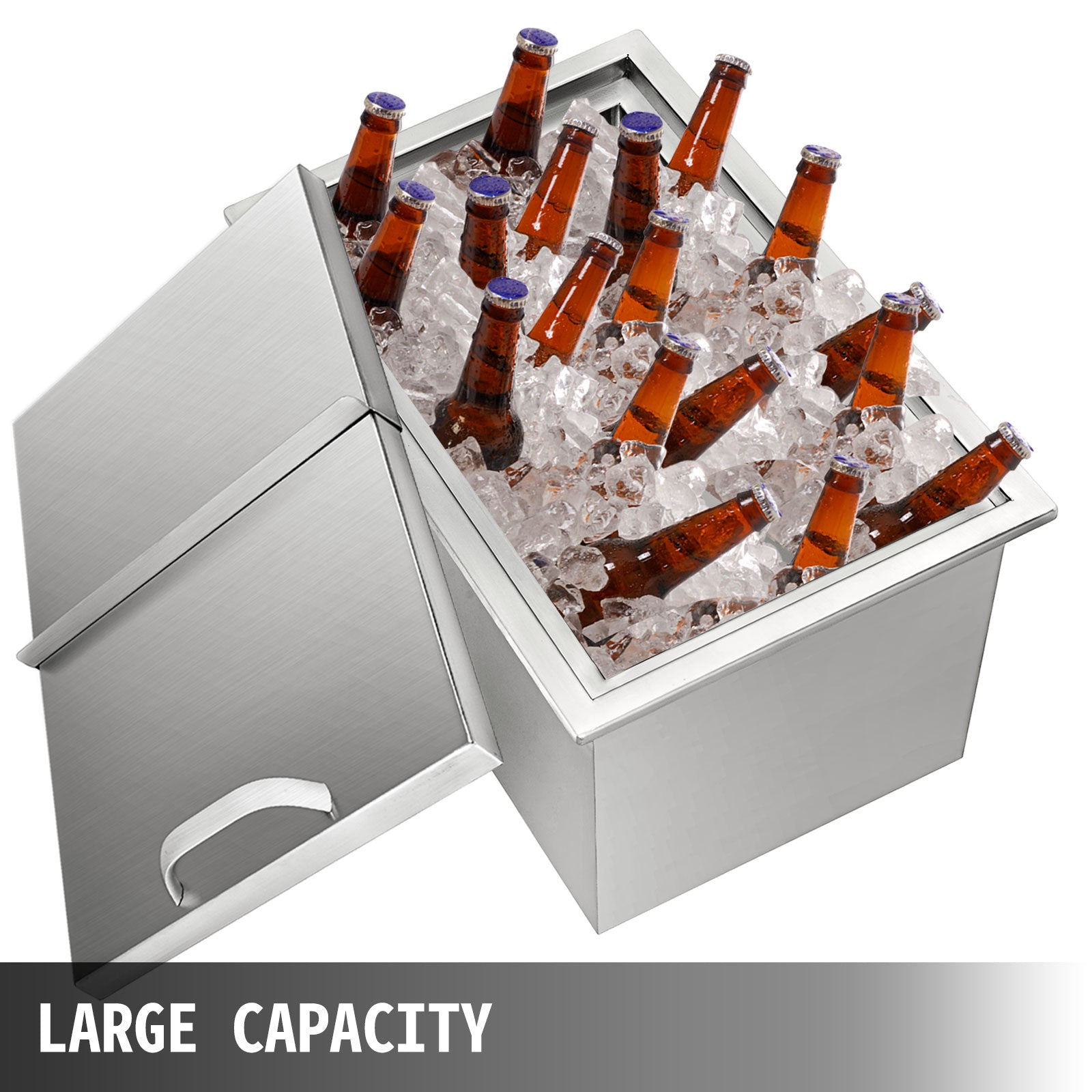 68*45*53 Cm Drop In Ice Chest Bin Ice Chest Cooler Food Cooler W/water Pipe