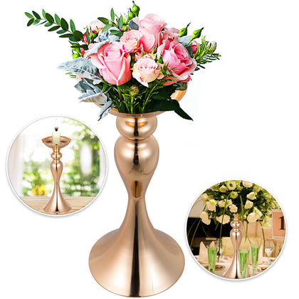 Gold Centerpieces For Wedding Candle Holder 11pcs Flower Rack Vase 12.6