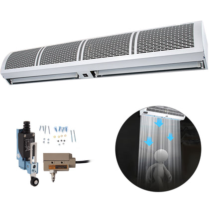 Commercial Air Curtain Door Air Curtain 2-speed 60 Inch Large Air Flow Low Noise