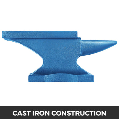 Iron Anvil Blacksmith Single Beck Cast Iron 10kg Metal Work Blue Powder Coated