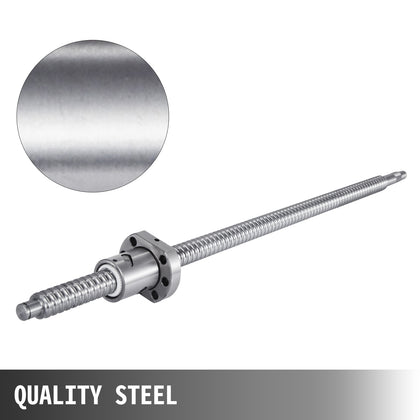 Anti-backlash Ballscrew Sfu1605-500mm+bk/bf12+dgs16 Durable Ball Nut 19.7''