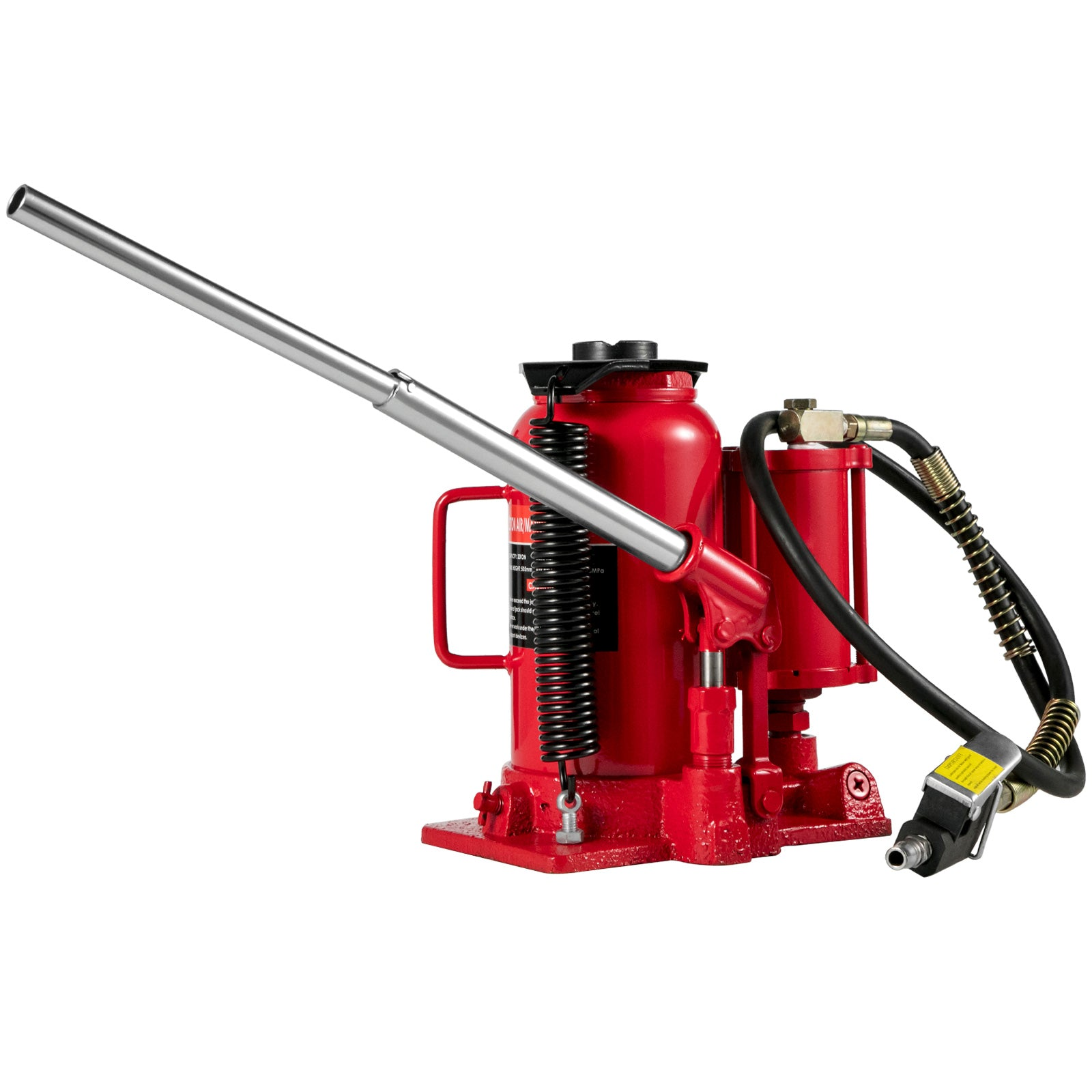 20 Ton Hydraulic Air Bottle Jack Pneumatic Lifting Jack 20-180psi Heavy Duty