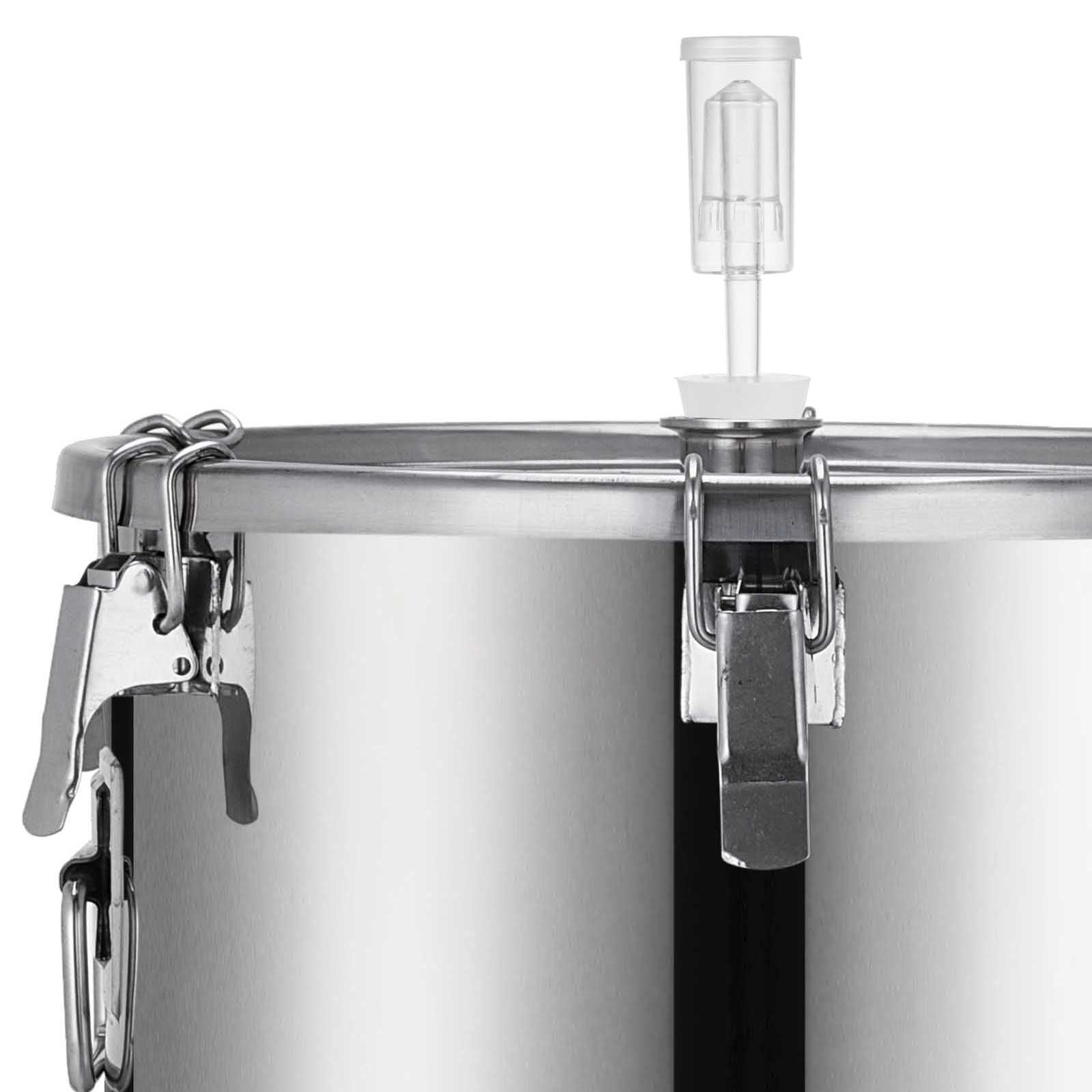 53l Wine Fermentation Bucket Fermenter With Thermometer 304 Stainless Steel