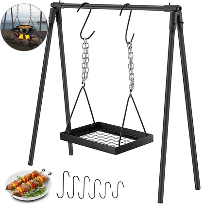 Campfire Cooking Stand, Outdoor Cooking, Cabon Steel, Campfire Cooking Equipment