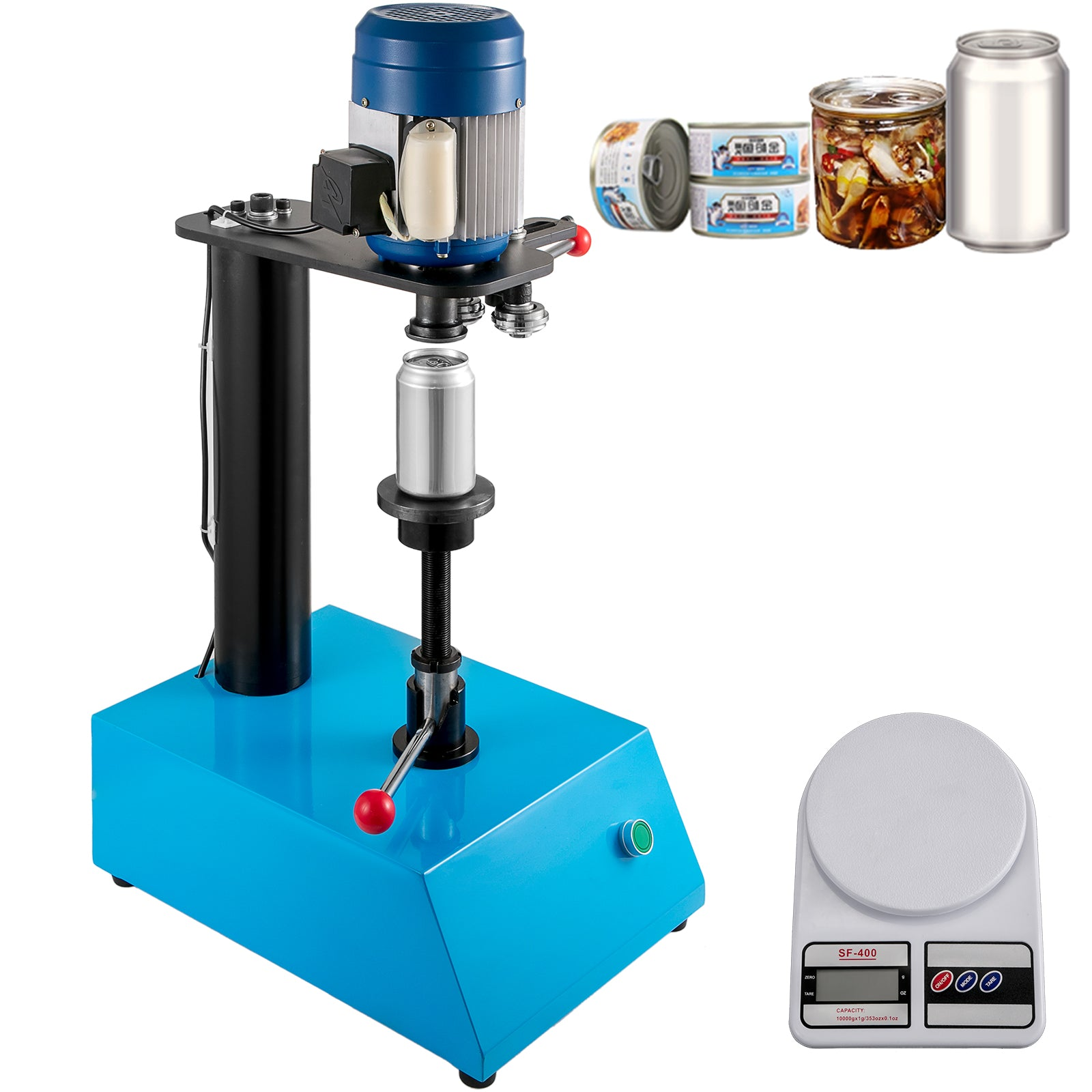 Can Seamer Tin Can Sealer Machine Semi Automatic Capping Machine 52.5mm Can