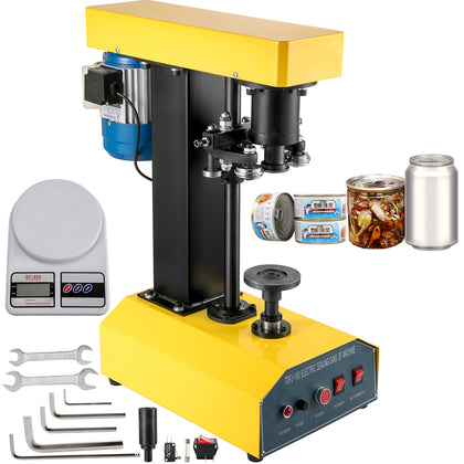 Can Seamer Tin Can Sealer Machine Automatic Capping Machine 52.5mm Can Sealer