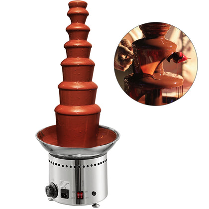 Commercial Chocolate Fondue Fountain - Large 7 Tiers - 99cm - Uk Warranty