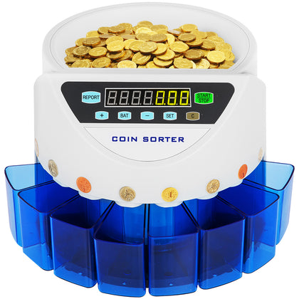 Automatic Electronic Coin Counter Sorter Counting Machine Max. 500 Coins