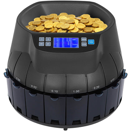 Auto Electronic Coin Cash Counting Machine Sorter For Shop Bank Gbp Uk