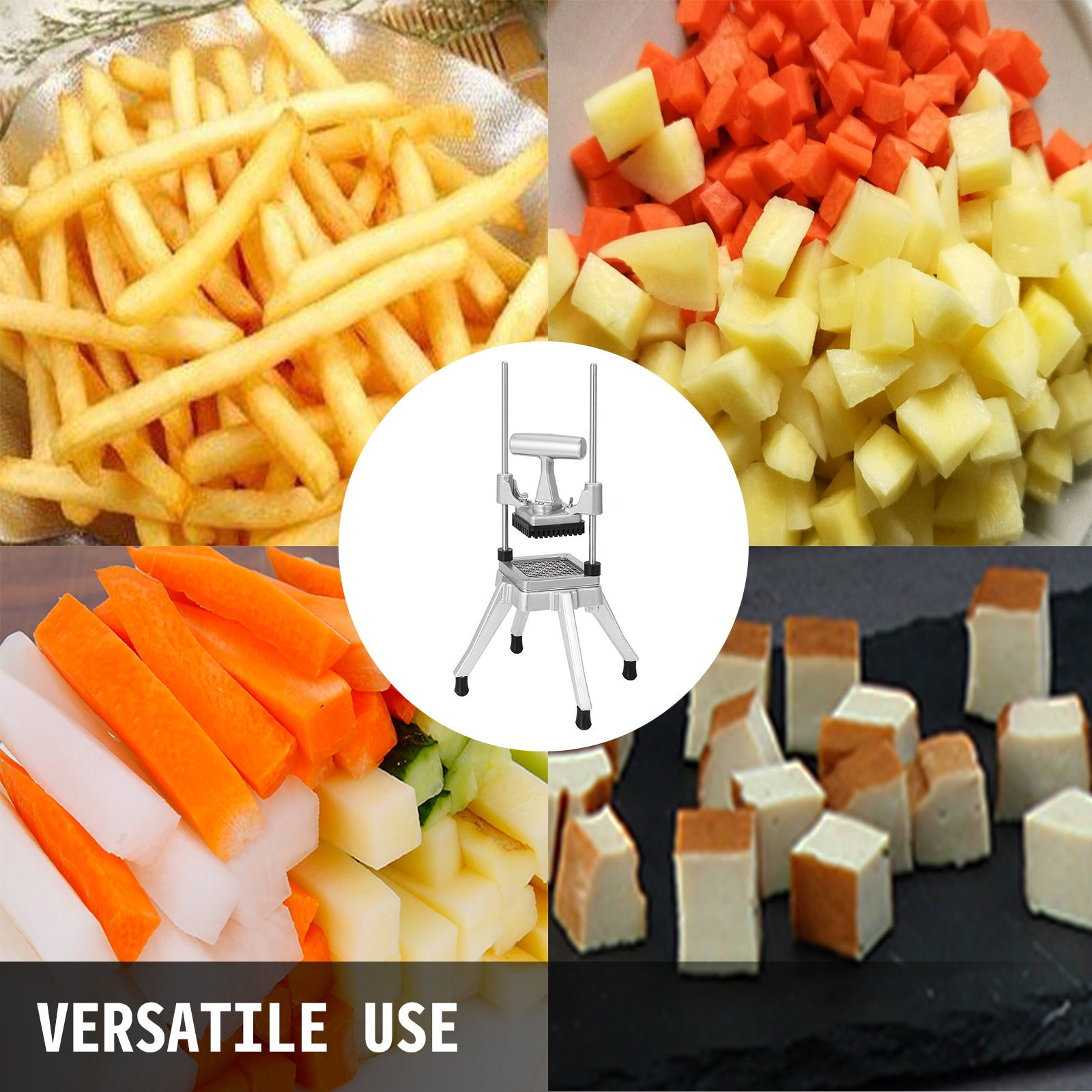 "1/4"" Vegetable Fruit Dicer Tomato Slicer Shaper Kitchen Manual Cutting Machine"