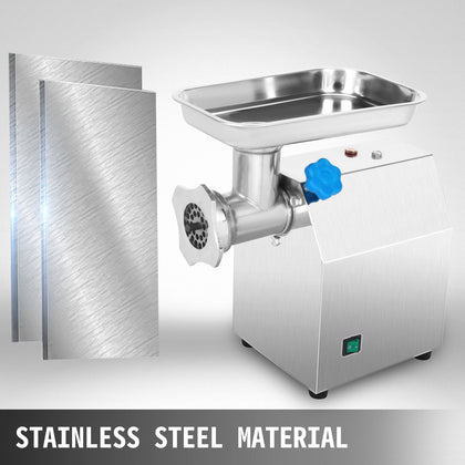 850w Commercial Meat Mincer Sausage Maker Stainless Steel Grinder 270 Lbs/h
