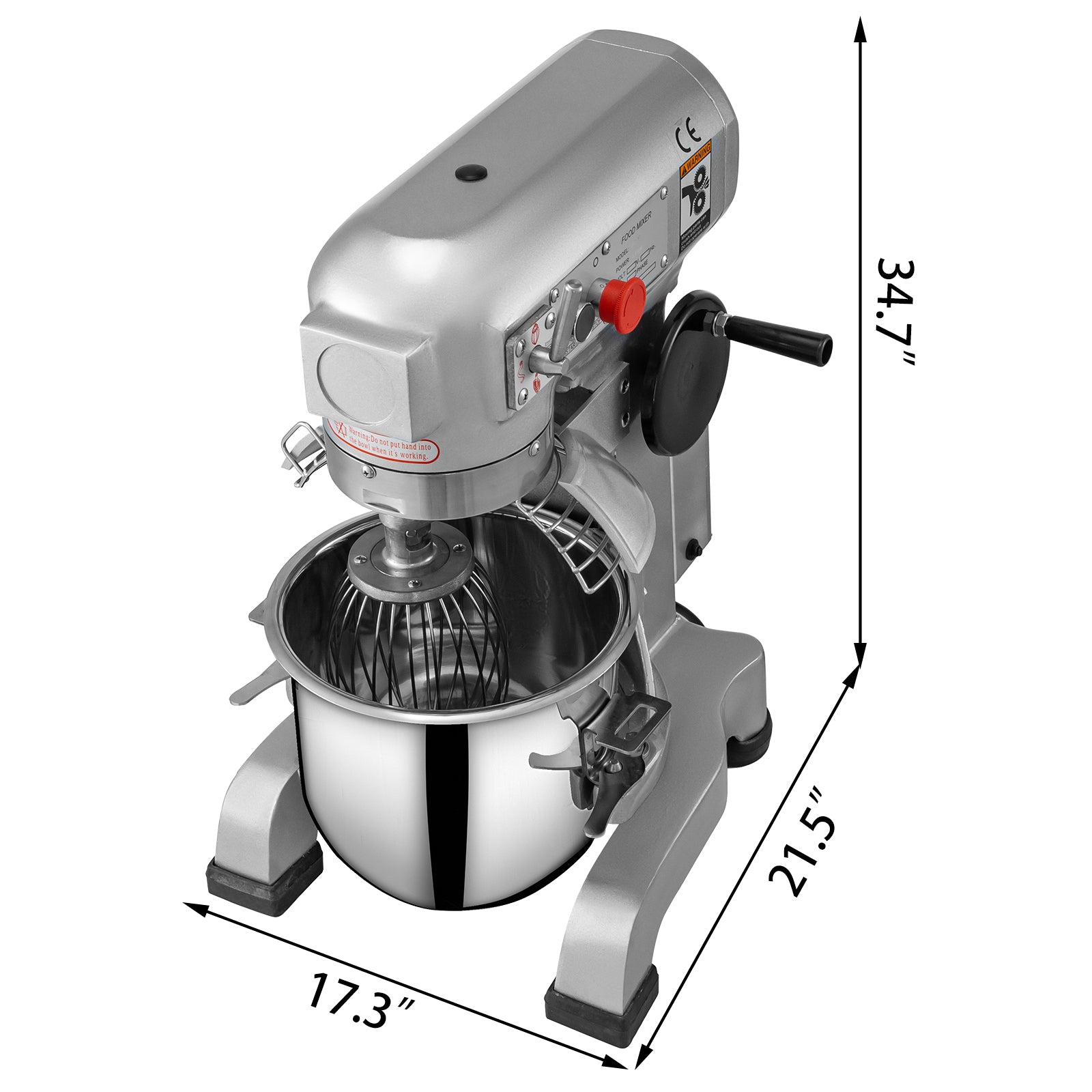 30qt Electric Food Stand Mixer Dough Mixer Mixing Tool 3 Speed Stainless Steel
