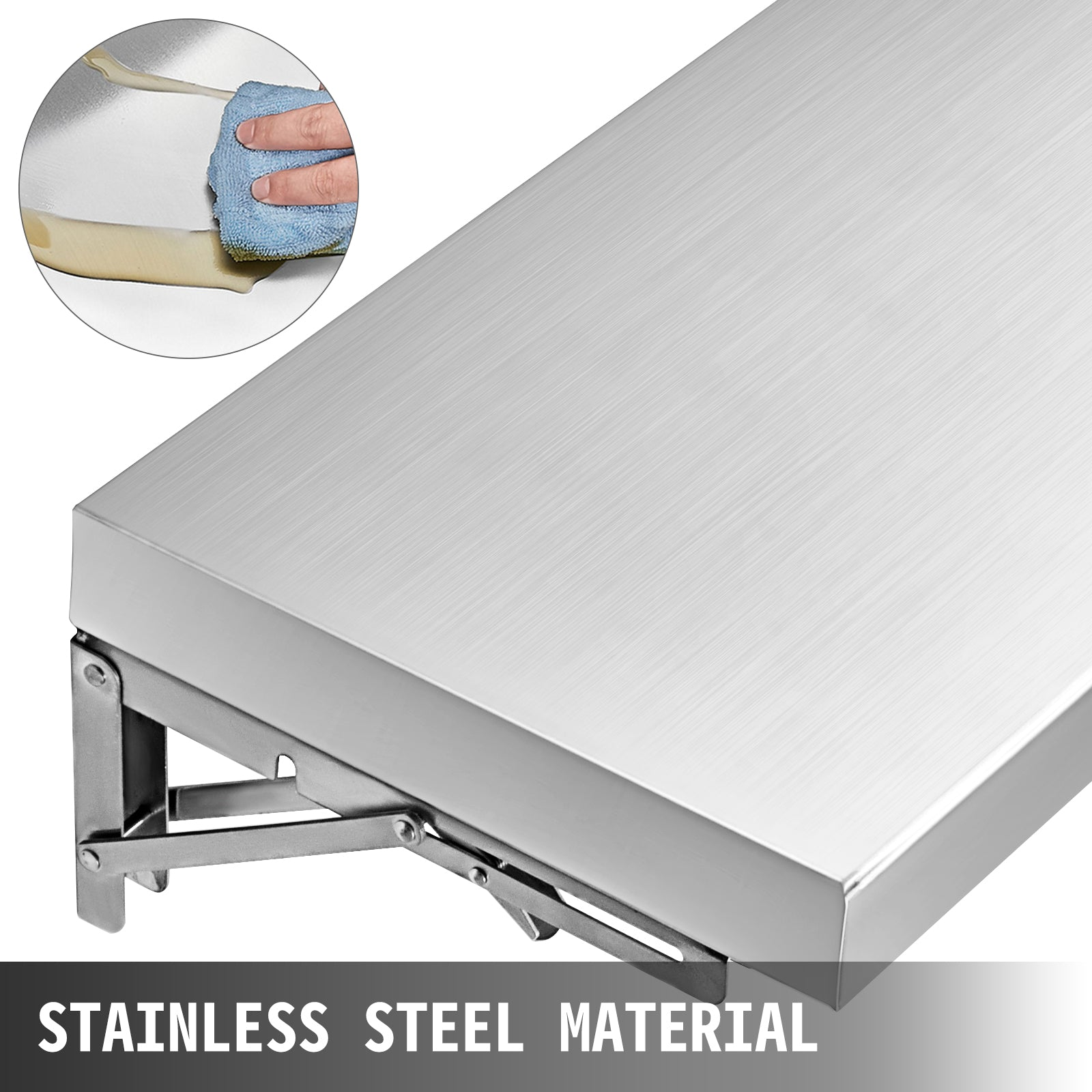6 Ft Concession Window Shelf Tabletop Stainless Steel 180 X 29 Cm Commercial