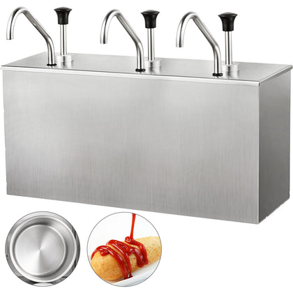 Restaurant 4l X3 Stainless Steel Sauce Dispenser 3 Pump Sauce Dispensing Machine