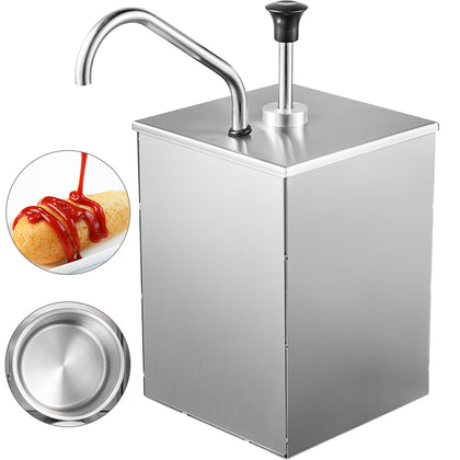 Stainless Steel Sauce Dispenser Dispensing Machine Condiment Pump Single Bucket