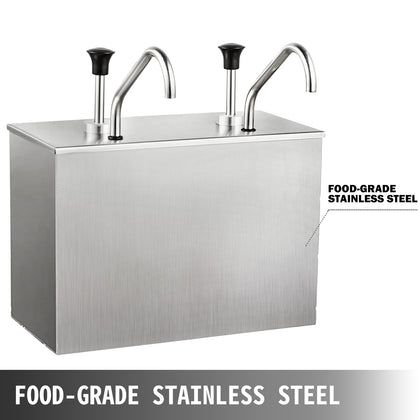 Restaurant 2.5lx2 Stainless Steel Sauce Dispenser Pump Sauce Dispensing Machine