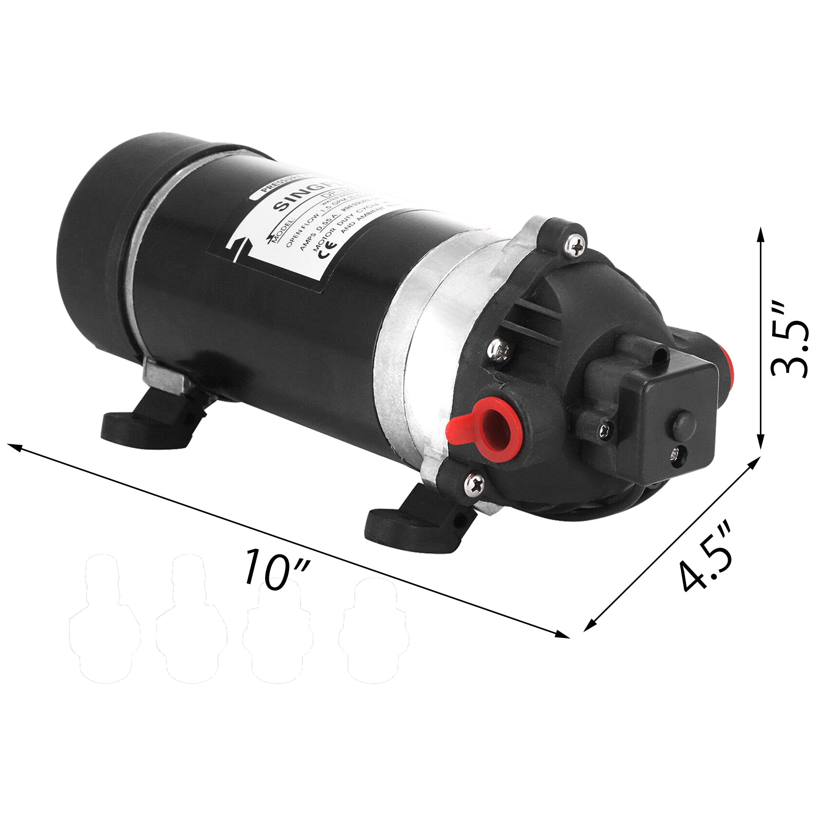 110-120v 160psi High Pressure Diaphragm Water Pump 1.2gpm Low Noise Bargain