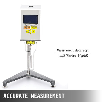 Digital Viscometer Ndj-9s Digital Rotary Viscosity Tester Fluidimeter Accuracy