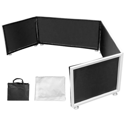 Dj Booth Dj Facade Foldable Dj Event Facade White & Black Scrim