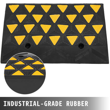 11000lb Rubber Curb Ramp For Material Handling Transport Dolly 23.6''x13.8''x6''