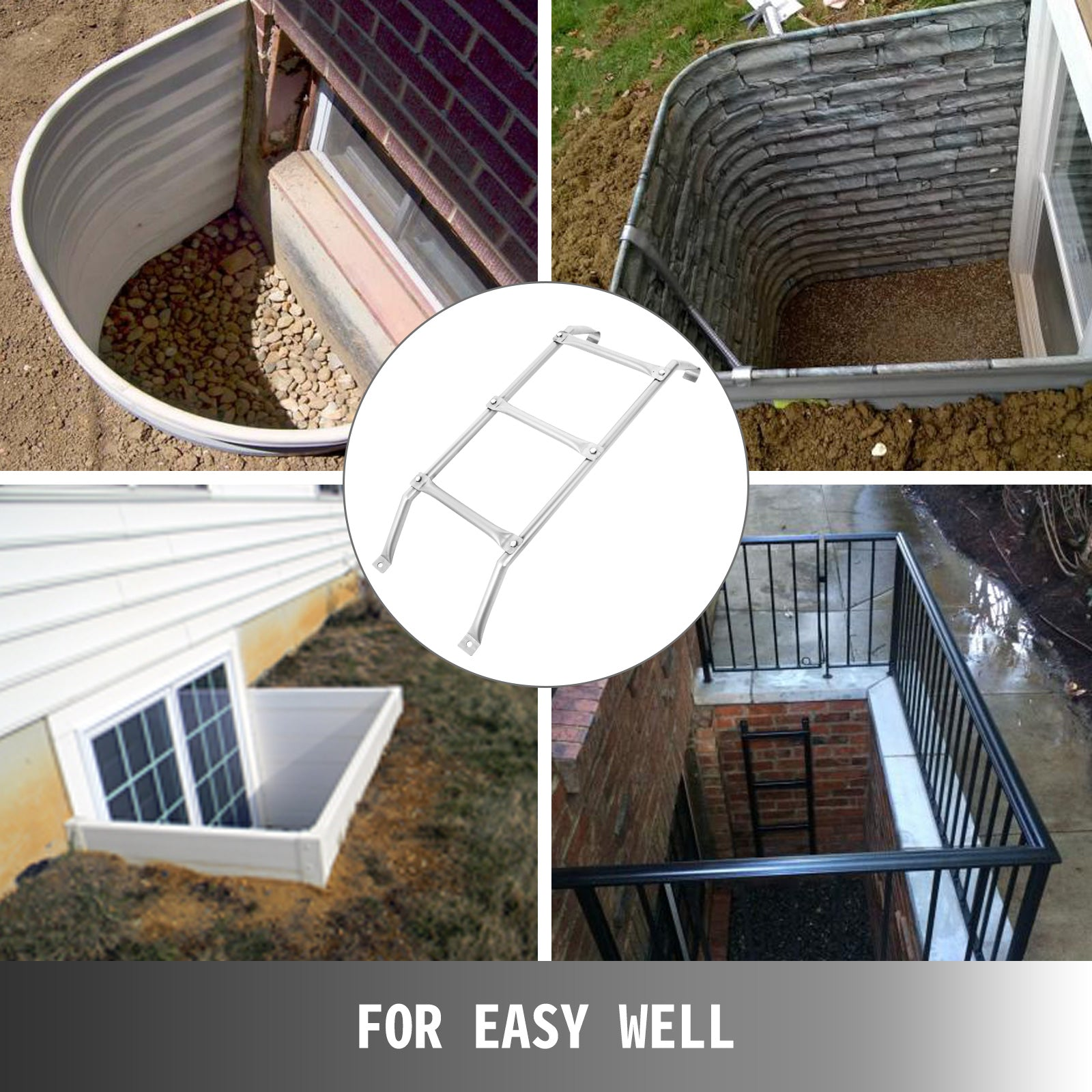 Egress Ladder Basement Basement Egress 4 Steps Window Well Ladder Escape Ladder