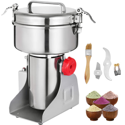 1kg Electric Herb Grain Mill Grinder Pepper Grinding Multifunction Flour Machine