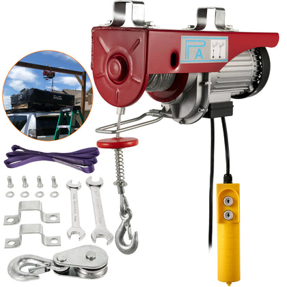 200kg Electric Hoist Scaffold Winch Lifting Crane Ceiling Pulley Wire Rope