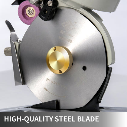 90mm Blade Electric Cloth Textile Cutter Round Fabric Cutting Machine Saw