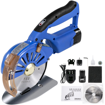 Wireless Electric Fabric Cutter 110mm Cloth Cutter Cutting Machine 5 Speeds