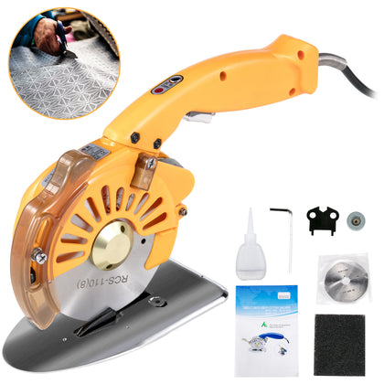 Electric Cloth Cutter Cutting Machine 110mm Rotary Fabric Cutter Variable Speed
