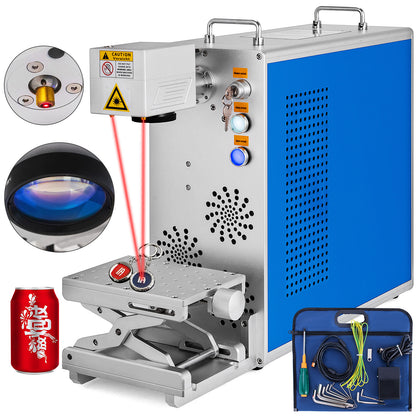 20w Fiber Laser Marking Machine Portable Laser Focus Metal&non-metal 110x110 Mm