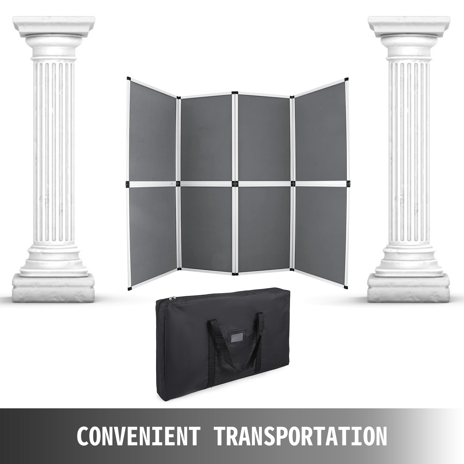 Folding Display Board 8 Panels Trade Show Conferences Banner Stand Aluminum