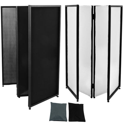 Event Facade White/black Scrim Metal Frame Booth+travel Bag Dj Booth Package