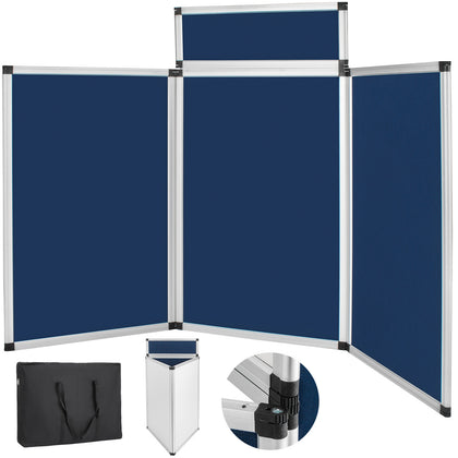 Blue Folding Portable Display Board Exhibition Trade Show Presentation Carry Bag