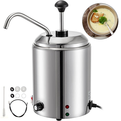 2.5l Electric Hot Chocolate Cheese Heater Warmer Dispenser Pump Heating Machine