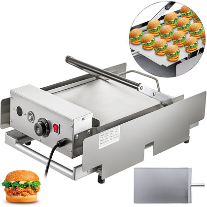 Electric Double Hamburger Machine Bun Toaster Commercial 2200w For 12 Hamburgers