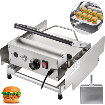 Commercial Double Hamburger Machine Bun Toaster Electric 800w For 6 Hamburgers