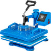 "5 In 1 Heat Press Machine Blue 12"" X 15"" For Shoes Hat T-shirt Cap Mug Mousepad"