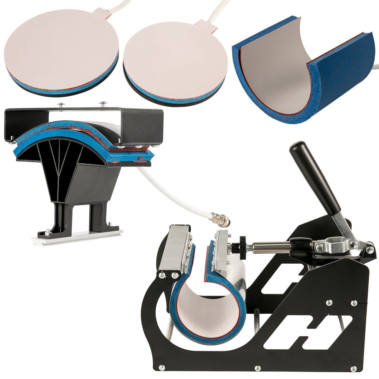 "6in1 Heat Press Transfer Machine 15""x15"" T-shirt Multifunctional Clamshell"