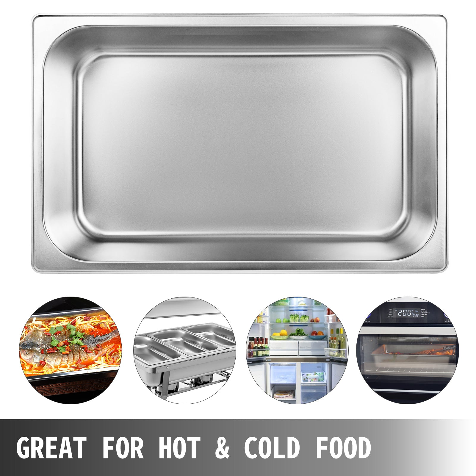 12pcs Bain Marie Gastronorm Pan 150mm D Countertop Steam Table Pan Food Warmer