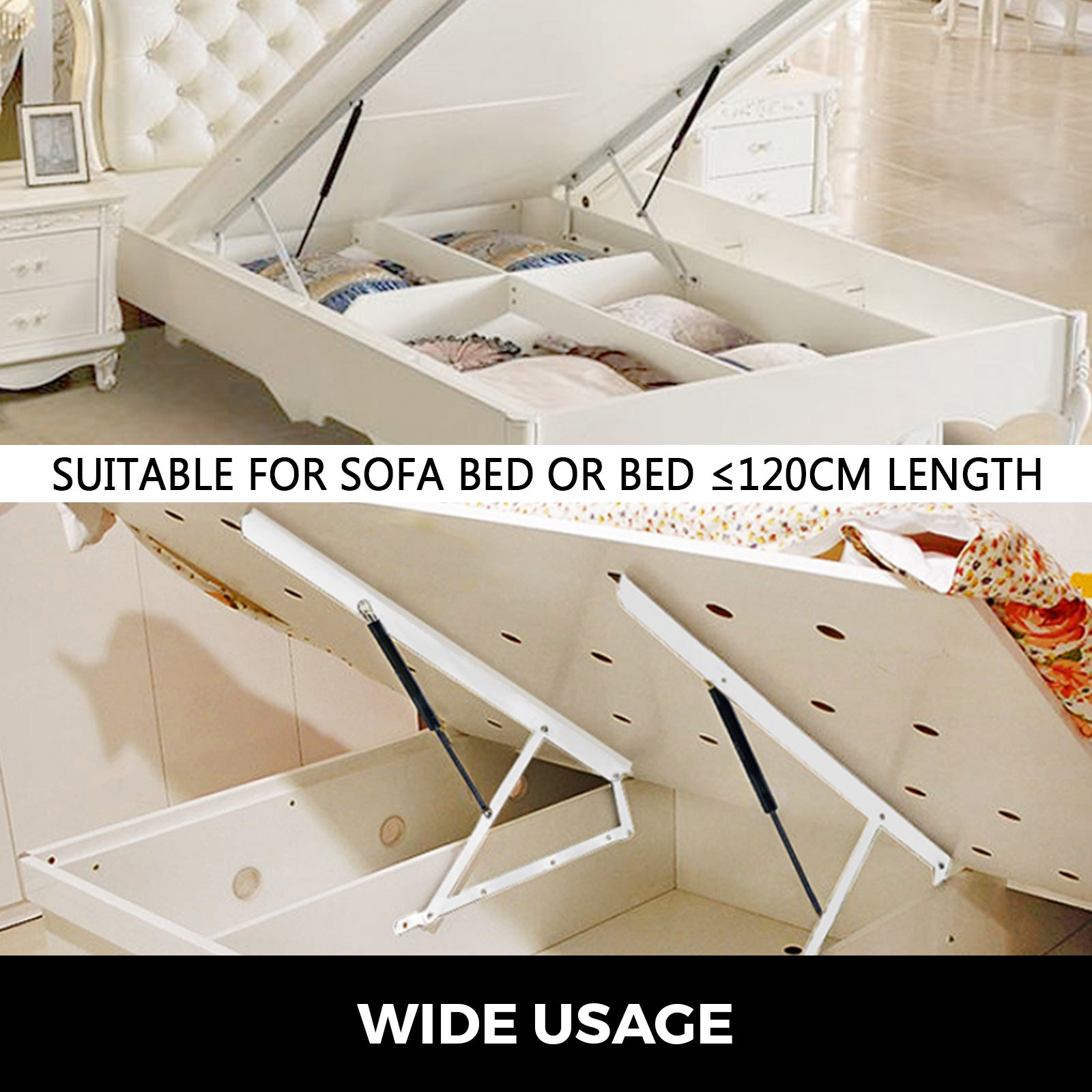 "36"" Bed Lift Hydraulic Mechanisms Kits For Sofa Bed Box Easy Install Oriented"