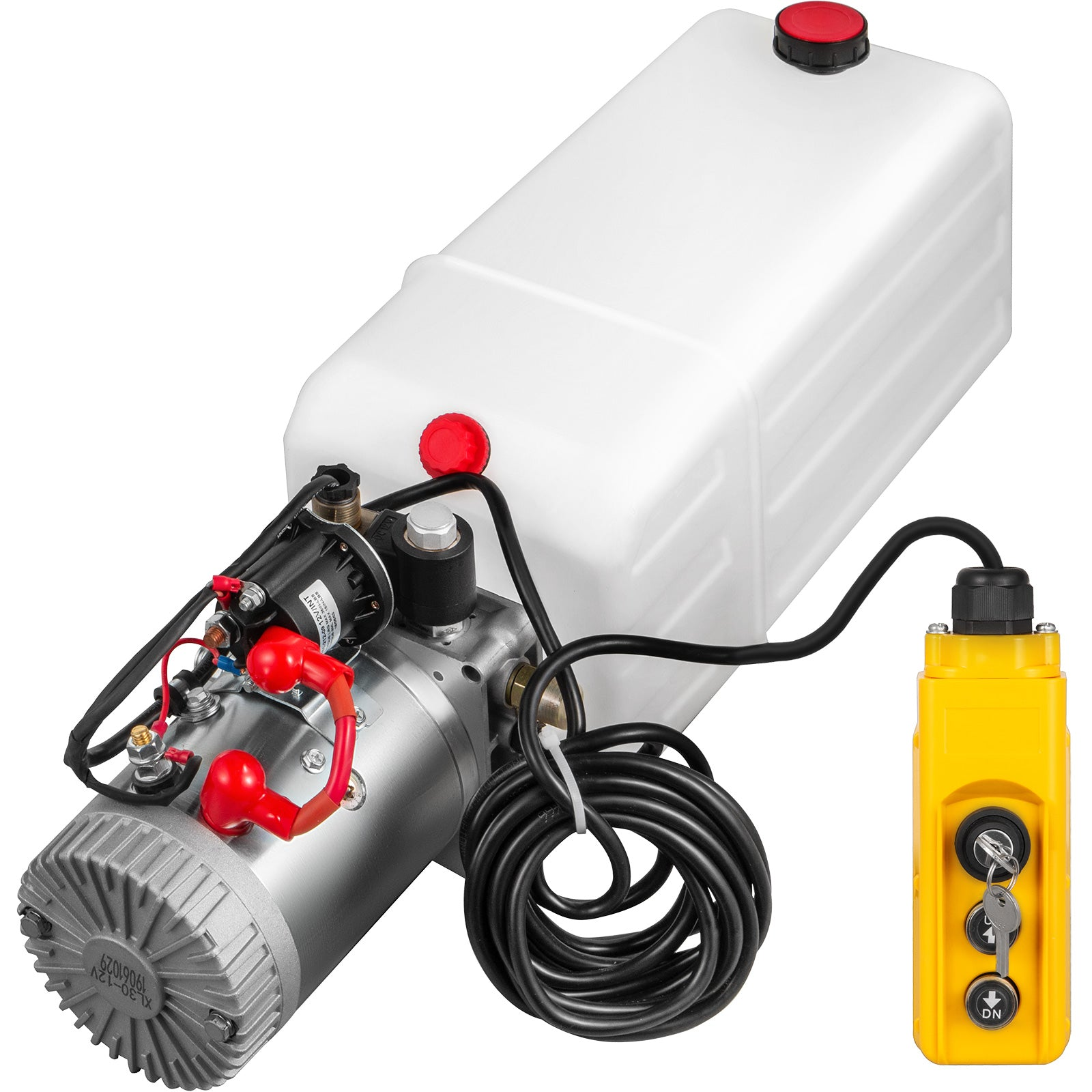 Hydraulic Pumpelectric Hydraulic Pump 7 Quart With Lock Single Acting For Dump Trailer