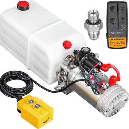 Hydraulic Pumpelectric Hydraulic Pump 7 Litter Single Acting With Remote Control For Dump Trailer