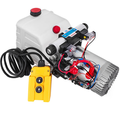 12v Dc Double Acting Hydraulic Power Pack With 4.5l Tank Zz004232