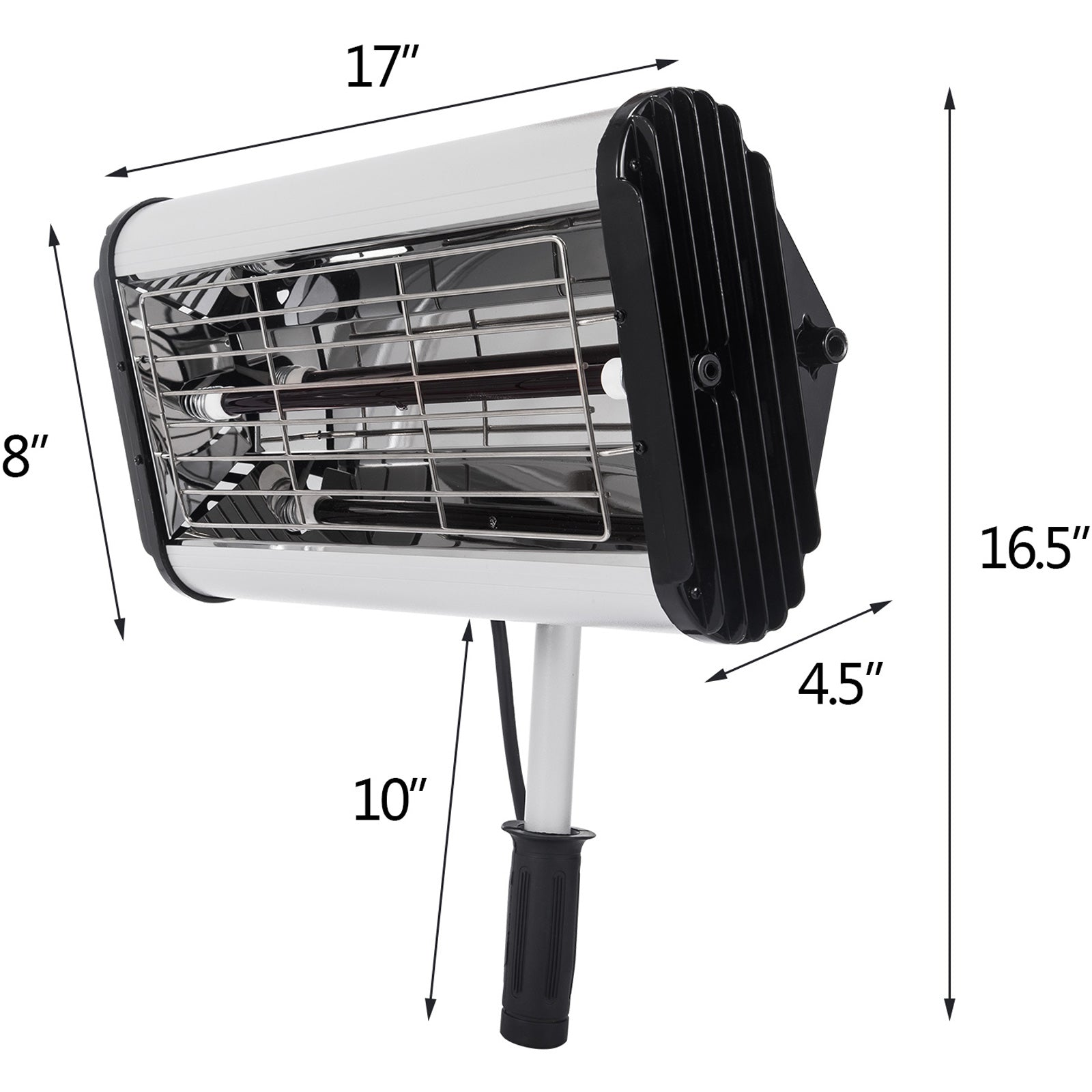 1000w Hand Held Infrared Paint Dryer Lamp Low Glare Curing Aluminum Alloy