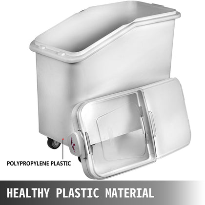 80l Mobile Ingredient Bins With Scoop Storage Bin Food Storage Plastic Kitchen