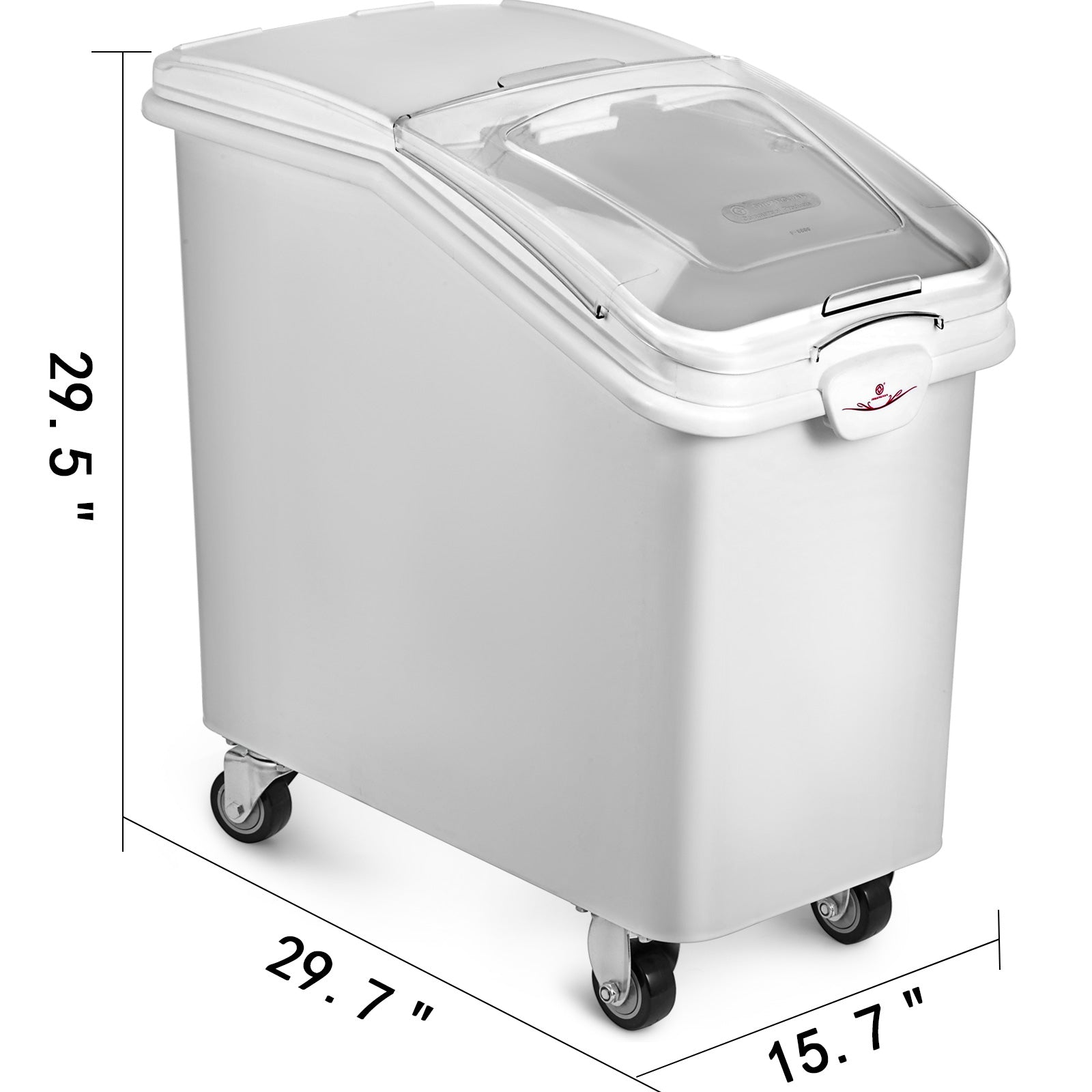100l Mobile Ingredient Bins With Scoop Rice Bin With Lid Kitchen Food Transport